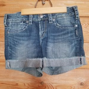 Silver brand shorts